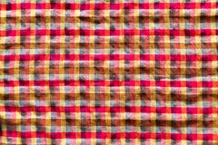 Ruffled plaid cloth Royalty Free Stock Images
