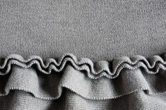 Ruffles detail. Close up of ruffles on cotton jersey Stock Photo