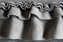 Ruffles jersey. Close up of ruffles on gray cotton jersey Royalty Free Stock Photos