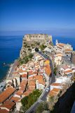 The Ruffo Castle in Scilla, Calabria, Italy. stock images