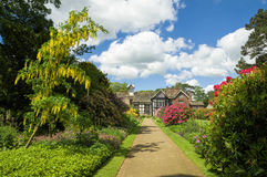 Rufford Old Hall and garden Stock Photography