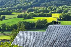 Ruffs города Auxillac в Франции Стоковые Изображения RF