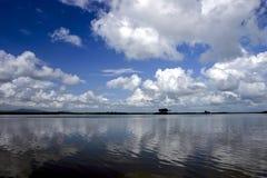 Rufiji Fluss in Südtanzania Stockbild