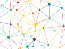 Rufsad till triangulär låg poly modell för nätverk för stilgräsgräsplan geometrisk abstrakt bakgrund Mall för illustration för ve Arkivbilder