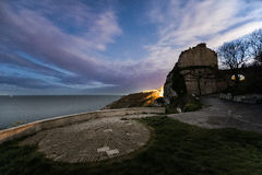 Rufus Castle Church Ope Cove Royalty Free Stock Photos