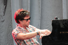 Rufus Wainwright performing live at Cruilla Barcelona Festival. Royalty Free Stock Images