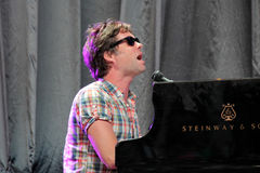 Rufus Wainwright performing live at Cruilla Barcelona Festival. Royalty Free Stock Photography