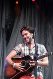 Rufus Wainwright performing live at Cruilla Barcelona Festival. Stock Photos