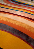 Rug. A  picture of a rug with colorful lines Royalty Free Stock Photos