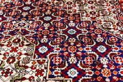 Rug_close oriental persa acima da vista fotos de stock royalty free
