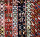 Rug. Colorful Ethnic Rug Pattern detail Royalty Free Stock Photos