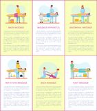 Rug en Massage de Affichesvector van het Apparatenhulpmiddel vector illustratie