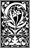 Rug en Wit van de bloemen het de decoratieve brief C Stock Afbeelding