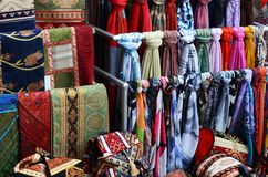 Rug fabric from Turkey in Bazaar Stock Photo