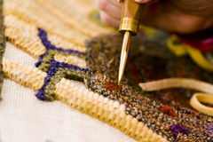 Rug hooking Royalty Free Stock Photos
