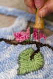 Rug hooking Royalty Free Stock Images