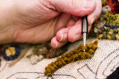 Rug hooking Royalty Free Stock Photo