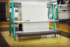 Rug loom. In weaving shop Royalty Free Stock Photography
