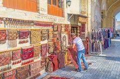 The rug merchant Stock Photo