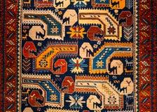 Rug pattern view texture in carpet meseum stock illustration