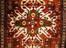 Rug pattern view texture in carpet meseum stock image