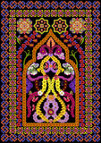 Rug for a prayer in Islamic style Royalty Free Stock Photos