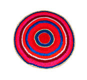 Rug round knitted Stock Photography