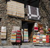 Rug shop, Bubion, Spain. Royalty Free Stock Images
