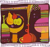 Rug, still life, the hospitality Stock Image