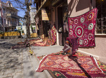 Rug store Royalty Free Stock Photography