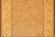 Rug texture. Brown rug with pattern texture Stock Photo