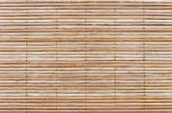 Rug of wooden slats. Background and texture of wooden mat stock images
