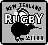 Rugbi 2011 de Nueva Zelandia del kiwi stock de ilustración