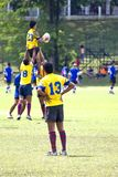 Rugby. A Rugby Sevens match in progress Royalty Free Stock Photo