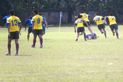 Rugby. A Rugby Sevens match in progress Royalty Free Stock Photos