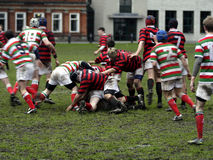 Rugby. Match at Trinity College in Dublin Ireland Stock Photo