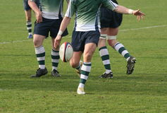 Rugby. Kicking in the game of rugby union(mens Stock Image