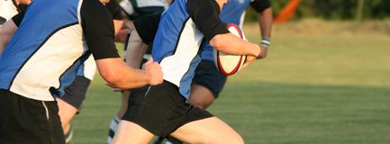 Rugby. Men playing the game of rugby union Stock Images