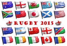 Rugby 2015 royaltyfri illustrationer