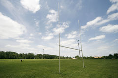 Rugby. Pole but on a rugby field Royalty Free Stock Photography
