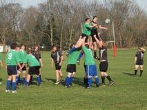 Rugby in Actie Stock Afbeeldingen