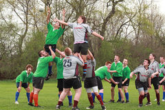 Rugby in Actie Royalty-vrije Stock Afbeelding