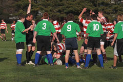 Rugby In Action Stock Image