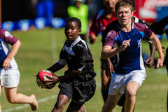 Rugby Carry Ball Teenager Royalty Free Stock Image