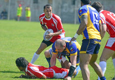 Rugby action Royalty Free Stock Images