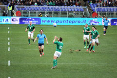 A rugby action Stock Photos