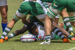 Rugby Action Schools Stock Photo
