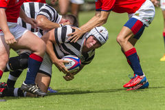 Rugby Action Schools Royalty Free Stock Image
