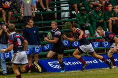 Player Ball Running Rugby Outeniqua Stock Photo