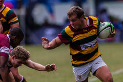 Forward Carry Ball Rugby Paarl Gymn Royalty Free Stock Photos